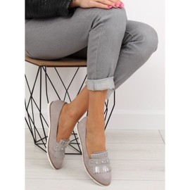 Moccasins for women gray DM30P Gray grey 2