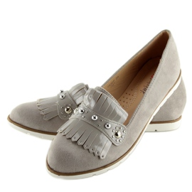 Moccasins for women gray DM30P Gray grey 6