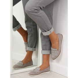 Moccasins for women gray DM30P Gray grey 1