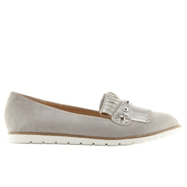 Moccasins for women gray DM30P Gray grey 4