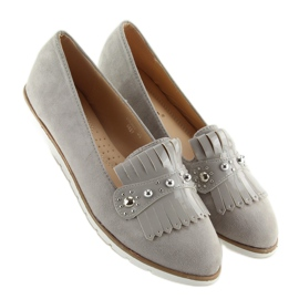 Moccasins for women gray DM30P Gray grey 5
