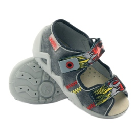 Befado children's shoes slippers sandals 350p073 red grey yellow 3