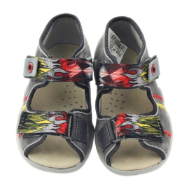 Befado children's shoes slippers sandals 350p073 red grey yellow 4