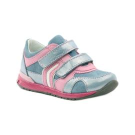Ren But Velcro booties 1445 pink blue 1