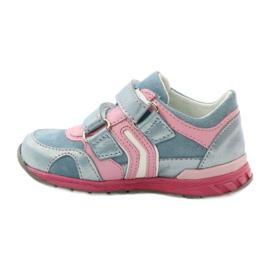 Ren But Velcro booties 1445 pink blue 2