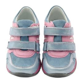 Ren But Velcro booties 1445 pink blue 4