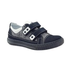 Ren But Boots for Velcro Butt 4299 navy blue white 1