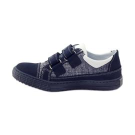 Ren But Boots for Velcro Butt 4299 navy blue white 2