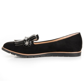 Seastar Suede Loafers With Fringes black 4