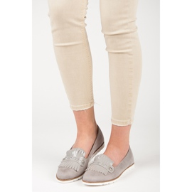Seastar Suede Loafers With Fringes grey 5