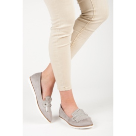 Seastar Suede Loafers With Fringes grey 6