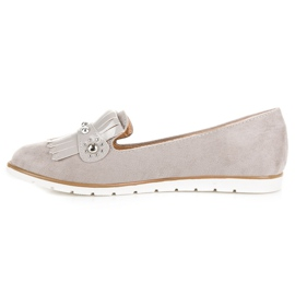 Seastar Suede Loafers With Fringes grey 2