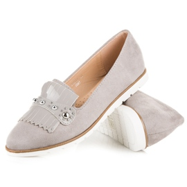 Seastar Suede Loafers With Fringes grey 3