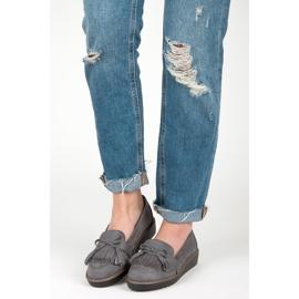 Seastar Loafers with tassels grey 5