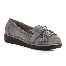 Seastar Loafers with tassels grey 1