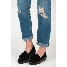Seastar Loafers with tassels black 4