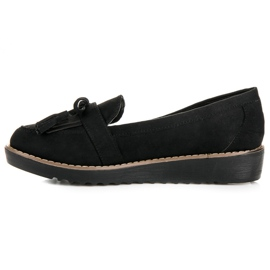 Seastar Loafers with tassels black 3