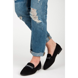 Suede loafers vices black 1