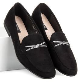 Suede loafers vices black 2