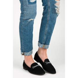 Suede loafers vices black 5