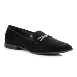 Suede loafers vices black 3