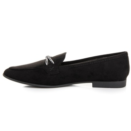 Suede loafers vices black 4