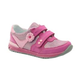 Girls' shoes with flower Ren But 3265 pink grey 1