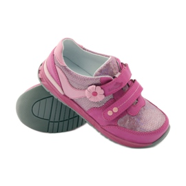 Girls' shoes with flower Ren But 3265 pink grey 3