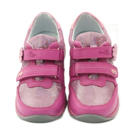 Girls' shoes with flower Ren But 3265 pink grey 4