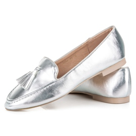 Silver moccasins vices grey 2