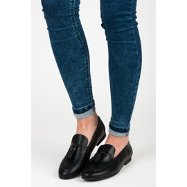 Black Loafers With VICES Fringes 4