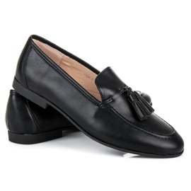 Black Loafers With VICES Fringes 2