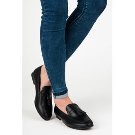 Black Loafers With VICES Fringes 5