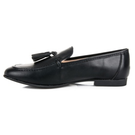 Black Loafers With VICES Fringes 3