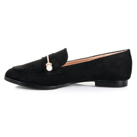 Seastar Loafers with pearls black 1