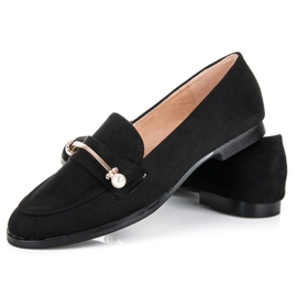 Seastar Loafers with pearls black 2