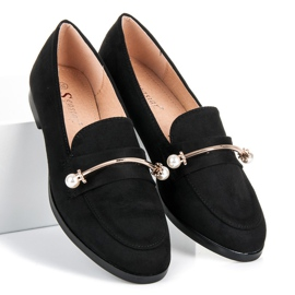 Seastar Loafers with pearls black 3
