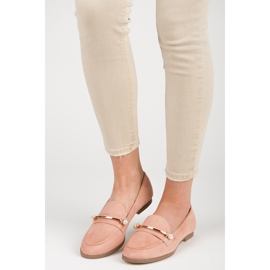 Seastar Loafers With Pearls pink 4
