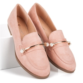 Seastar Loafers With Pearls pink 3