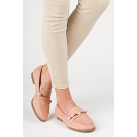 Seastar Loafers With Pearls pink 5