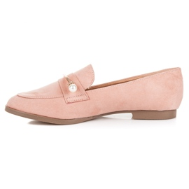 Seastar Loafers With Pearls pink 1