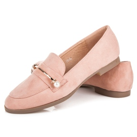 Seastar Loafers With Pearls pink 2