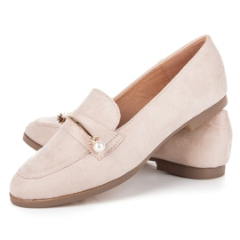 Seastar Loafers With Pearls beige 2