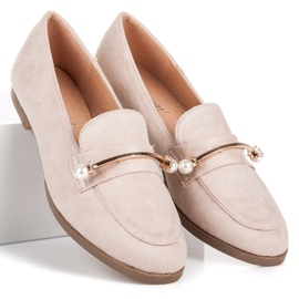 Seastar Loafers With Pearls beige 1
