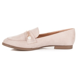 Seastar Loafers With Pearls beige 3