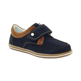 Bartek Casual boy shoes 35599 navy blue brown 1