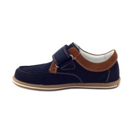 Bartek Casual boy shoes 35599 navy blue brown 2