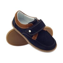Bartek Casual boy shoes 35599 navy blue brown 3