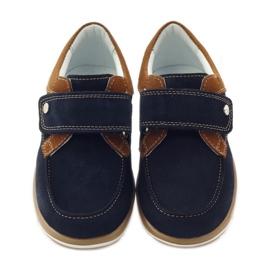 Bartek Casual boy shoes 35599 navy blue brown 4