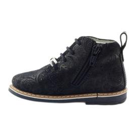 Bartek Zippered ankle boots 81852 navy blue 2